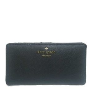 kate spade Bi-Fold Snap Closure Black Wallet ♤